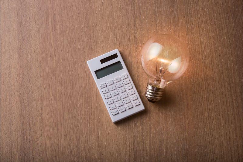 電卓 電球