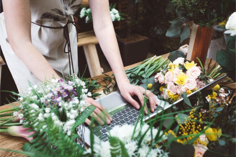 パソコン お花
